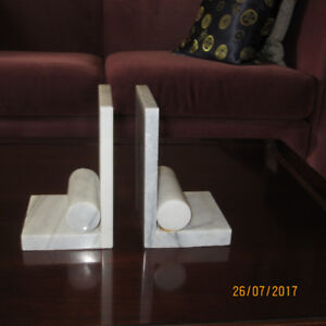 Art Deco marble book ends