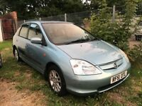 2001 Honda Civic SE 1.6 Petrol Automatic, Fully Loaded Leather Seats A/C Electric Sunroof Only £995