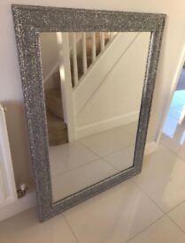 Large Crystal Glitter Mirror