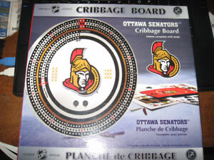 Ottawa Senators cribbage board