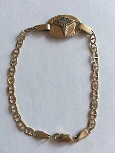 """Bracelet medical en OR medicinal GOLD italy 10k 4.5g 7"""""""