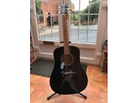 Acoustic guitar -Dean- hardwood - vgc -hardly used - dreadnought shape