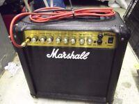 Marshall MG 15 DFX AMP and Guitar Stand