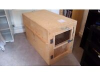 Wooden Airline Dog Crate (54x95x65cm)