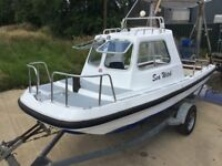 19FT WILSON FLYER FAST FISHING BOAT VERY RARE VERSION + TRAILER PLEASE READ