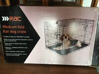 RAC dog crate in excellent condition.