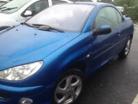 Peugeot 206 Convertible Years MoT Full Service History. Great condition