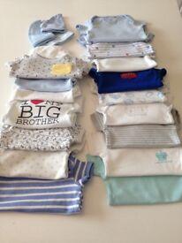 0-3 baby boy vests & sleep gro-bag