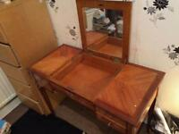 Beautiful Antique Table with Mirror and Optional Marble