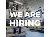 Full time screen printing position available