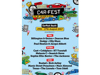 4 x Carfest South tickets Family Weekend Quiet Camping