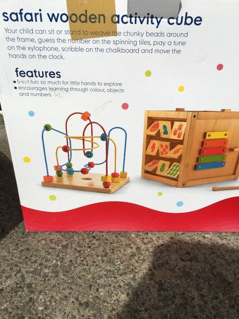 Wooden activity tablein CardiffGumtree - In box Great condition Priced to sell. Would keep but no storage left as moving house £10