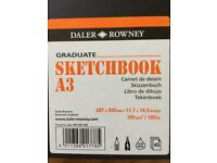 4x Daler Rowney A3 graduate sketchbooks