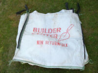 3 x 1 Tonne Builders Bulk Aggreate Sacks Bags - Used Once Only - Rubble Sand Logs Garden Waste Sacks