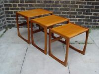 FREE DELIVERY Retro G Plan Quadrille Nest Of Tables Vintage Furniture F