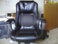 Black Leather look office chair