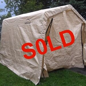 FOR SALE..... 8' X 10' PORTABLE SHED MADE BY SHELTERLOGIC