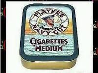 Players NAVY cut tobacco tin