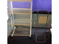 2x shop shelving units