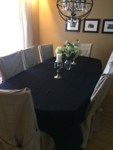 Complete Dining Room Set with Table and Chair Covers