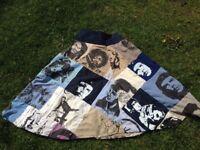 Hand-printed designer skirt, medium
