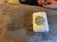 Vintage ivory wedding handbag