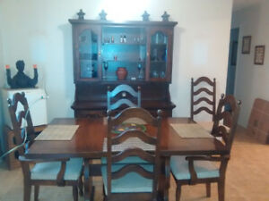 Buffet, Table with 6 chairs ,Stove, fridge, Washer and dryer