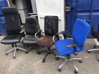 Various cheap office swivel chairs on clearance @ just £10 each !! Only