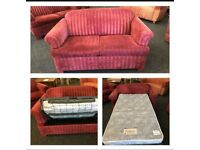 red striped sofa bed