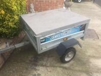 4x3 Galvanised Tipping Trailer + fitted cover