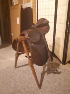 Kids  horse saddle and stand
