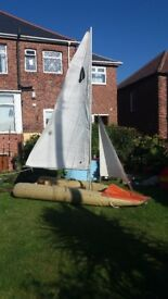 Sailing Dinghy - Tinker Traveller inflatable 3.5 m x 1.35 m, can fold to fit in car boot space