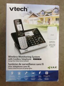 Vtech wireless monitoring system with cordless telephone garage