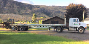 International truck with trailer and hitchhiker NEW PRICE
