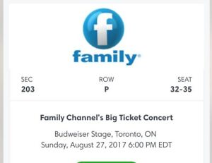 Tickets Big Ticket Concert - Family Channel