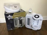 Tommee Tippee Closer to Nature Perfect Prep milk machine with microwave steriliser