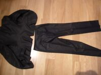 Women's black formal/business trouser suit