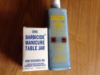 Barbicide Disinfectant Concentrate Solution & Manicure Table Size Disinfecting Jar