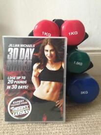 30 Day Shred DVD with arm weights