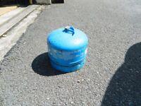 Empty camping gaz bottle