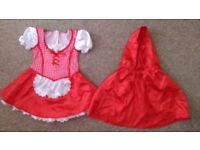 Little Red Riding Hood dress 4-6years-can post