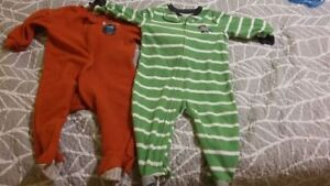 2 - 6-12 Month Boys Fleece Sleepers
