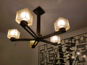 Mission Style Art & Craft Ceiling Lamp.