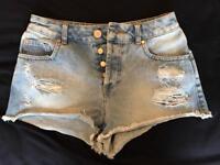 Miss Selfridge Denim Shorts Size 8