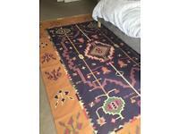 Cotton Indian Kilim style rug