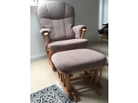 Mamas and Papas Dutalier Gliding Chair and Footstool