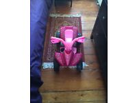 Pink girl's quad bike
