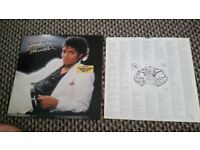 Micheal Jackson Thriller Vinyl Original press