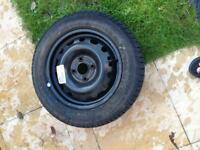 Wheel with tyre for