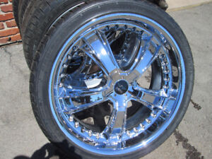 22 INCH RIMS WITH TIRES 295/30R22